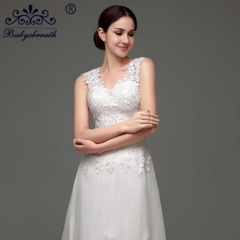 Sexy New 2016 Cap Sleeve Top Open Back A Line Wedding Dresses White Bridal Dress Gown Jordans Women Buy Direct From China(China (Mainland))