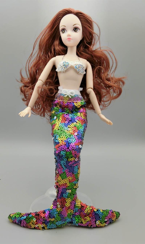 Поделки для девочек: Как сделать хвост русалки для куклы 85