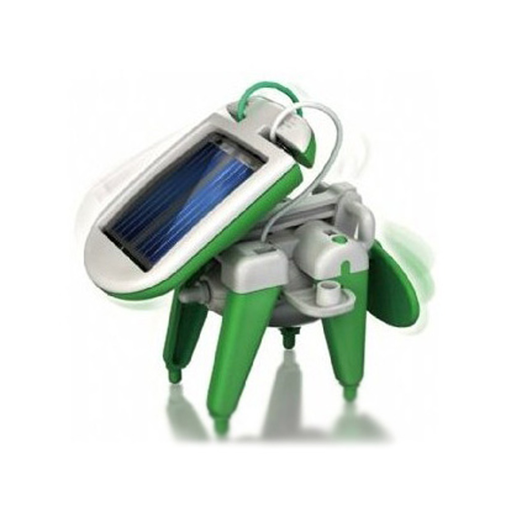 Shopping Time!Green Chameleon Solar Energy Powered 6 in 1 Robot Kit Gifts(China (Mainland))