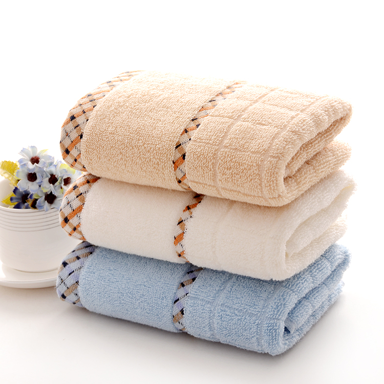 3PCS 35*75cm Solid Cotton Hand Towels,Plaid Brand Decorative Face Bathroom Hand Towels,Bulk Price Top Quality Terry Hand Towels(China (Mainland))