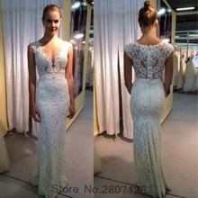 Buy Real Photo 2017 Mermaid Wedding Dresses Shoulder Lace V Neck Princess Styles Bridal Dress Bride Gown Robe De Mariage for $127.05 in AliExpress store