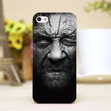 pz0015-22 wild man Design Customized cellphone transparent cover cases for iphone 4 5 5c 5s 6 6plus Hard Shell