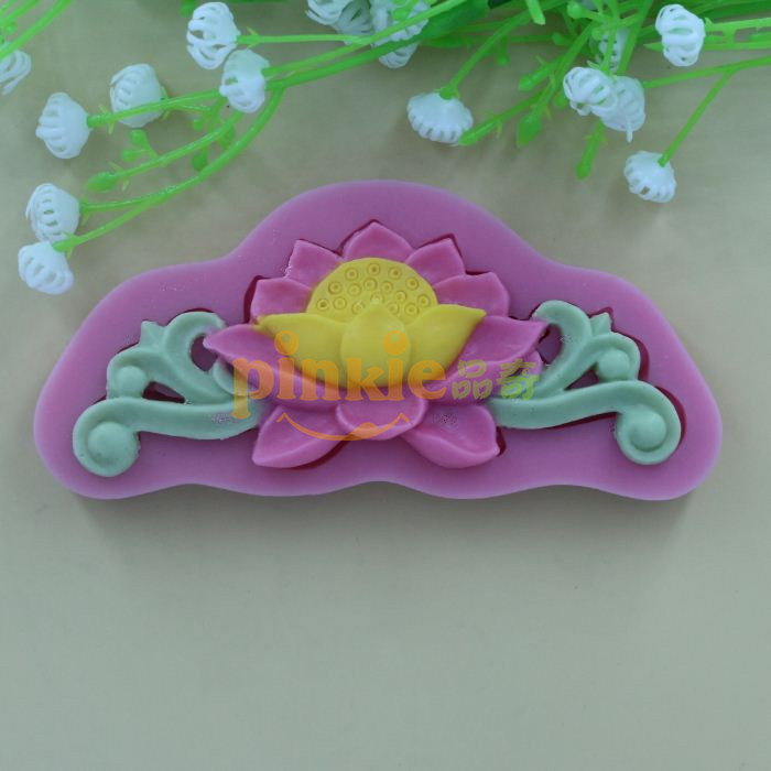 Lotus Flower Shaped Fondant Mold,Resin Clay Chocolate ...