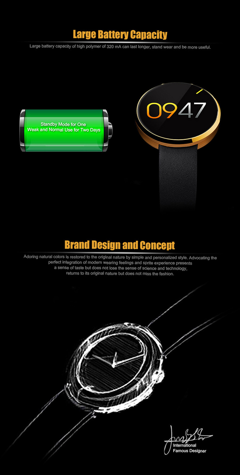 FROMPO DM360 Luxury Bluetooth Smart Watch Sport Wristwatch Heart Rate Monitoring IPS Full Screen 360L Steel Case For IOS Android
