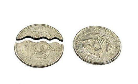 Bite and Restore Coin Biting/Folding Coin/magic tricks/magic props/magic toys