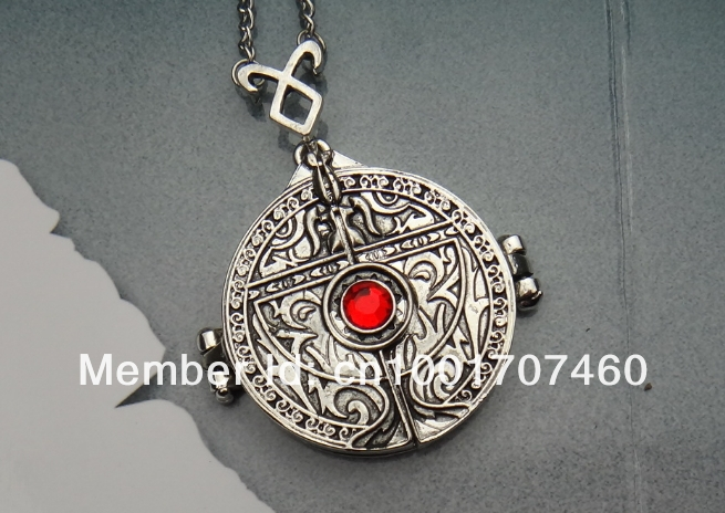 Freeshipping a lot The Mortal Instruments City of Bones Necklace Angel's Cup Hinged Door mortal cup necklace(China (Mainland))