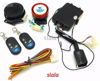 - Motorcycle Security Alarm System with Remote Control