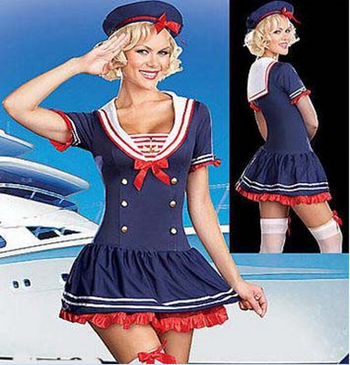 free pp real picture!!!! ZT8507 sailer costume Navy Fancy Costume,Sailer costume(China (Mainland))