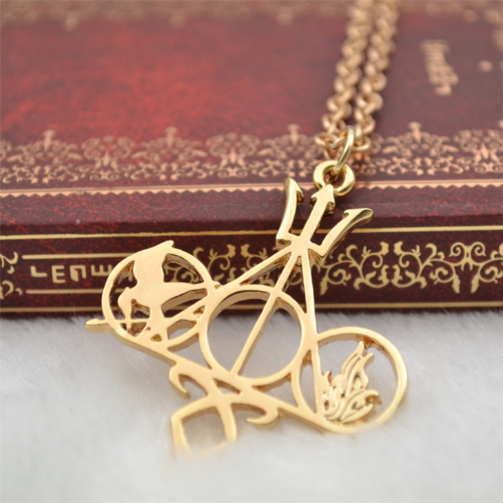 Harry Potter Hunger Games The Mortal Instruments City of Bones Divergent Percy Jackson movie necklace wholesale(China (Mainland))