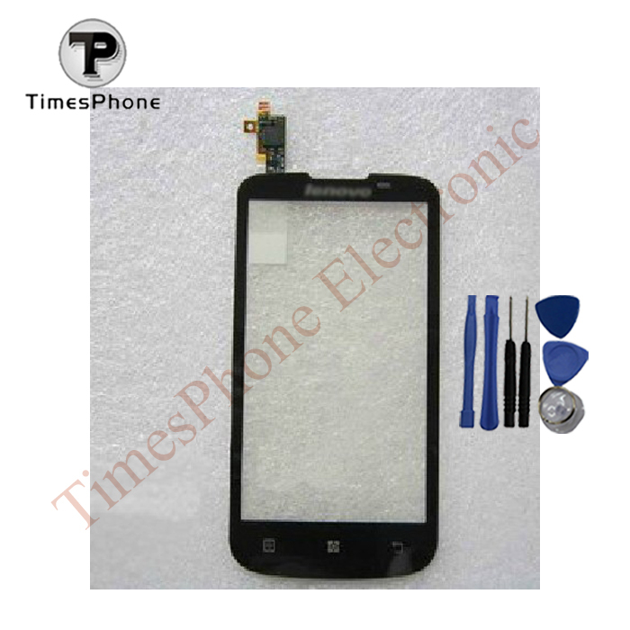 Touch Screen Digitizer For Lenovo A800 Touch Panel Glass New Black Repair Part+ Tools + Free Shipping