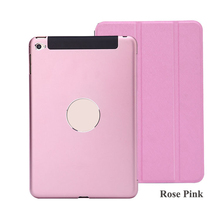 For Apple iPad Mini 4 Cover Case Smart Cover for Mini iPad Metal Ultrathin Fold Stand Tablet Pc Case(China (Mainland))