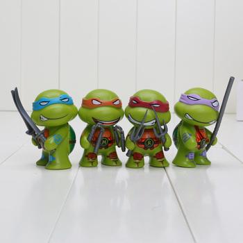 4pcs/lot 7cm Teenage Mutant Ninja Turtles figures TMNT Action Figure Toys Dolls Raphael TURTLES Free Shipping