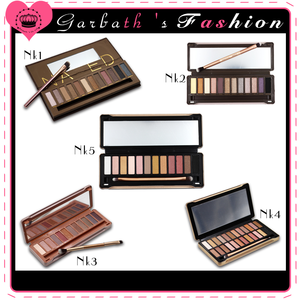 Brand Eyeshadow Palette Naked 1 2 3 4 5 Eye Shadow 12 Color Make Up Set Masca NK 3 Makeup Sets ...