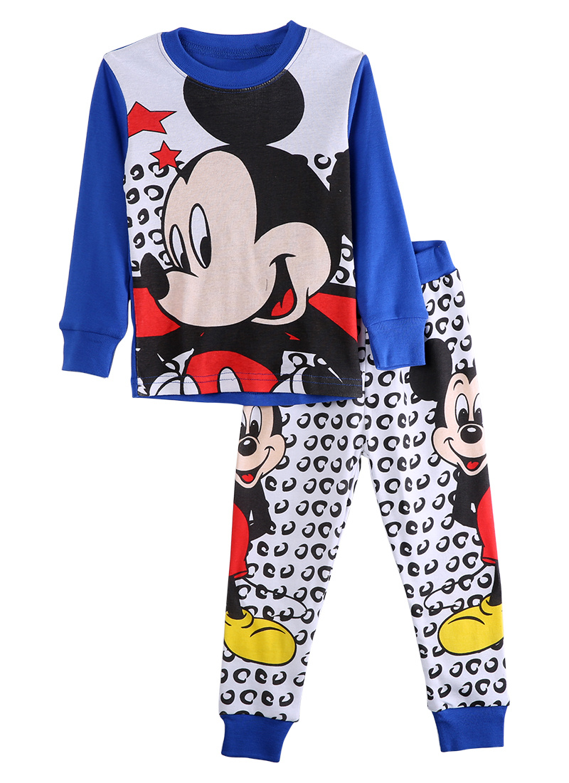 New 2016 Kids Pj's Baby Girls Boys Pajama Cartoon Long Sleeve Tops+Pants Set Spring Autumn Casual Sleepwear 2pcs Outfits Pajamas(China (Mainland))