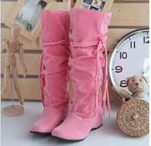 Shoes women boots autumn and winter snow boots ladies sexy Knee high boot big size 34-43 Hot 2015 Fashion newest Free shipping(China (Mainland))