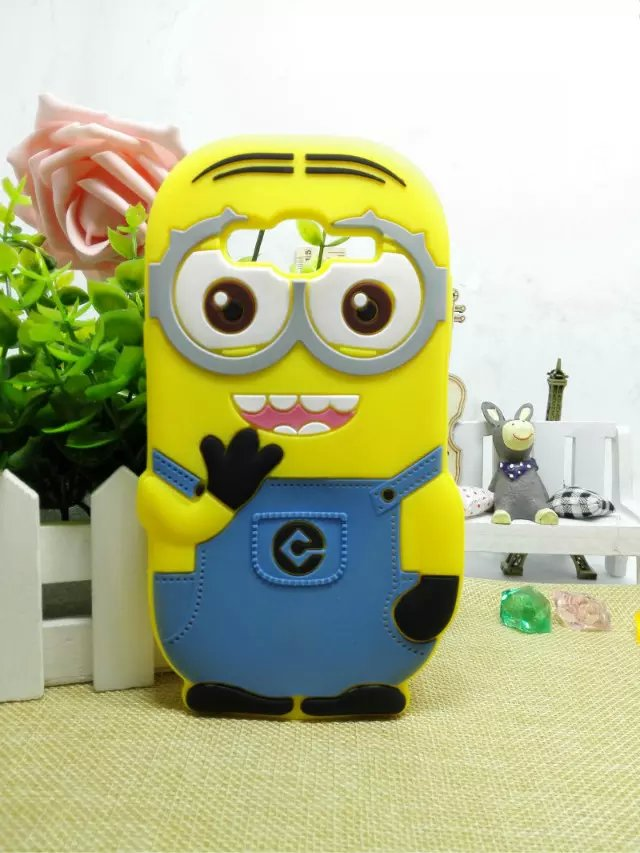 3D Silicone Case Despicable Me Yellow Minion Design Cover For Samsung Galaxy J5 J500H J500M J500FN J5008(China (Mainland))