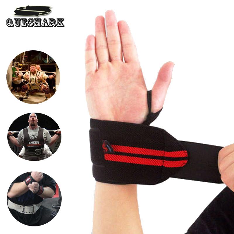 1Pc Weight Lifting Sports Wristband Gym Wrist Thumb Support Straps Wraps Bandage Fitness Training Safety Hand Bands(China (Mainland))