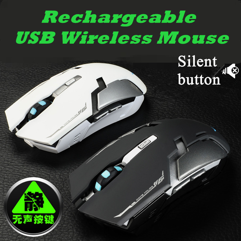 2016 new Rechargeable usb Wireless Mouse silent mute noiseless Optical Mouse Gaming mouse for Laptop Computer Mice(China (Mainland))