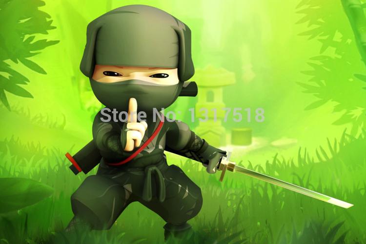 Living Room Decor 3D Ninja Cartoon Poster 27x40cm Wall Sticker(China (Mainland))