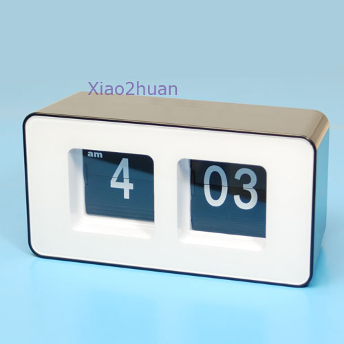 G104Free Shipping Retro Flip Classic Stylish Desk Auto Modern Wall Clock