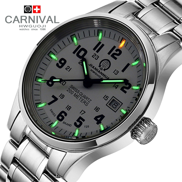 Carnival watch male luminous commercial watch mens watch strap waterproof watch