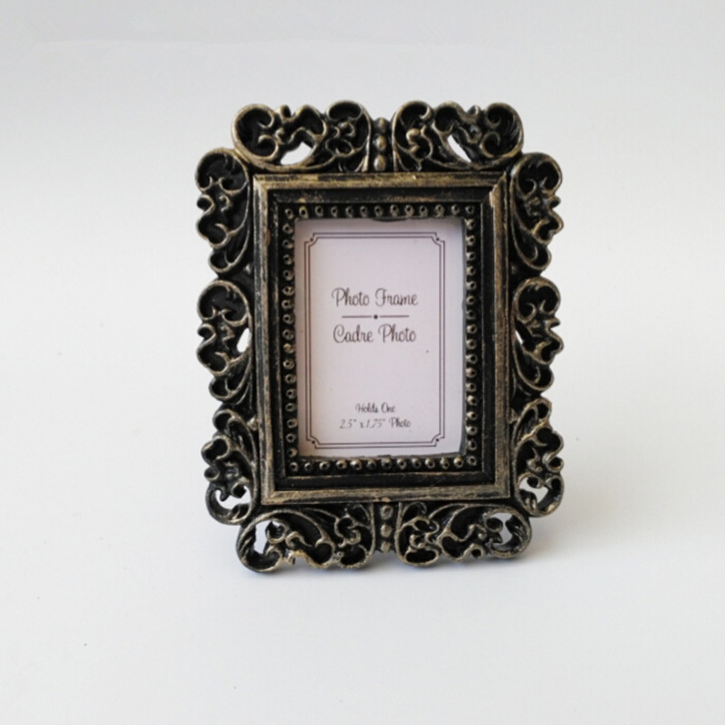 Retro baroque small photo frame Baby box frame table card(China (Mainland))