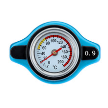 Thermost Radiator Cap COVER + Water Temp gauge 0.9BAR Cover Blue(China (Mainland))