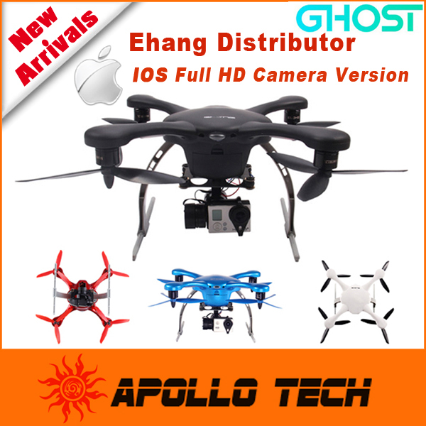 Ehang Helicopter GHOST Aerial Drone & HD Camera Gimbal Helicopter GPS Aerial Aircraft Quadcopter support IOS 7.0 APP and a GoPro(China (Mainland))