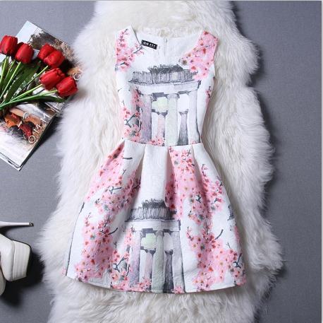 2016 Free Shipping New Spring And Summer Korea Ladies Temperament Self Cultivation Spring Princess Tutu Dress Plus Size Dress(China (Mainland))