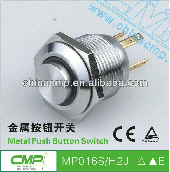 Discount shippment export 100pcs/lot CMP 16mm metal ring illuminated led push button switch(China (Mainland))