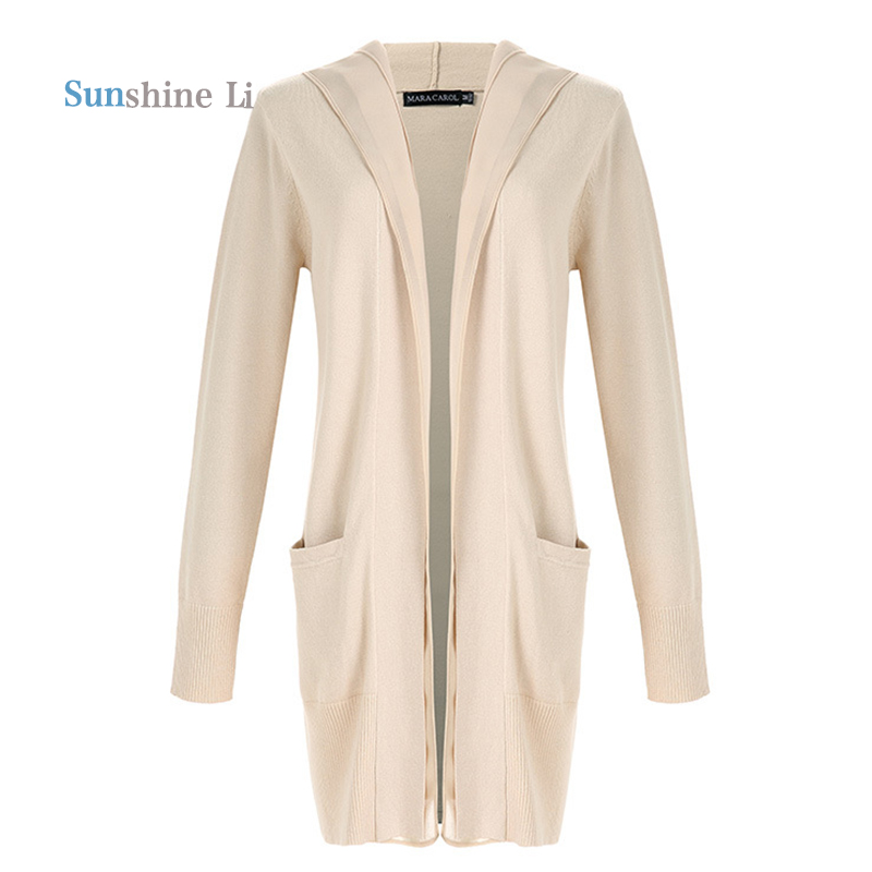 2016 Autumn New Sweater Stitching Chiffon Hooded Long Cardigan Women Poncho Pull Femme Knitted Jumper Sueter Tricot 2016718-13(China (Mainland))