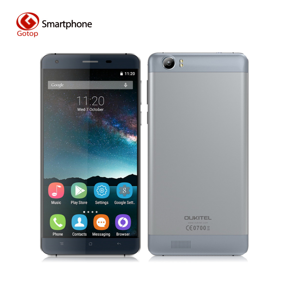 Original OUKITEL K6000 Android 5 1 Smartphone MT6735P 1280 x 720 2G RAM 16G ROM Mobile