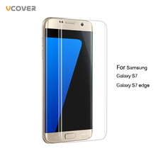 Vcover 3D Full Cover Tempered Glass Screen Protector For Samsung Galaxy S7 edge Safety Protective Film Glass for Galaxy S7 Edge(China (Mainland))