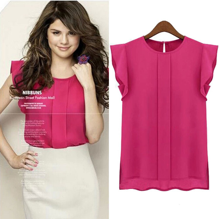 2015 Fashion Women Loose Chiffon Blusas Tulip Sleeve Women Shirts Blouse Shirt Tops Blusa Feminina Women Blouse Plus Size XXXL(China (Mainland))