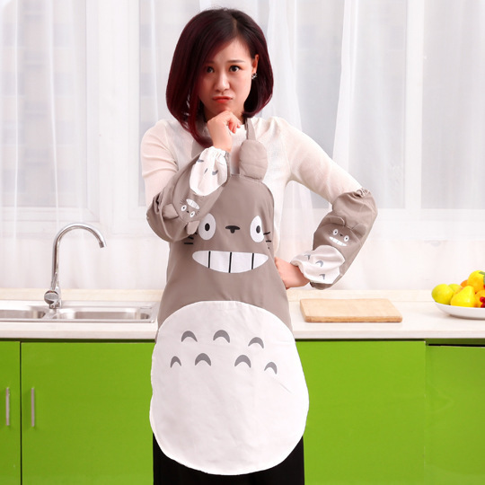2016 New hot sell kitchen apron Totoro Gray Apron Cosplay Baking Party Kitchen Cook Apron free shipping(China (Mainland))