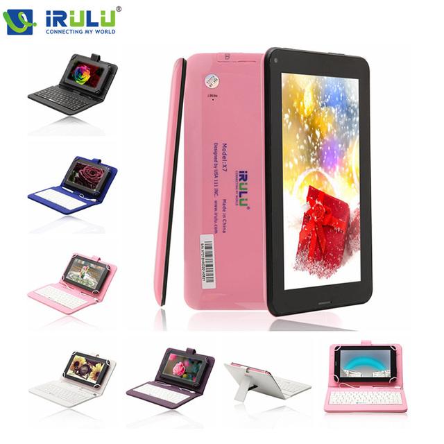 "Irulu eXpro 7 "" Phablet 2 г вызова планшет AllWinner A23 двухъядерный 8 ГБ ROM Android 4.2 WIFI Bluetooth камера Phablet новый горячий"