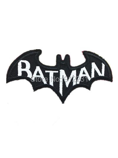 DC Batman Cape Comic Book Logo white Letters Embroidered Iron on Patch, Cartoon Fabric Badge, Children DIY Clothing Accessories(China (Mainland))