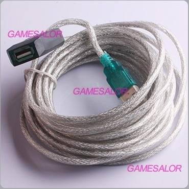 15ft 5M USB 2.0 Active Repeater Extension Cable Free shipping 9988(China (Mainland))