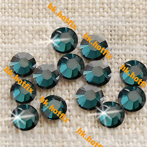 GENUINE Swarovski Elements ss20 Satin Blue Zircon ( 229 ) 720 Iron on 20ss Hot-fix new Flatback Round Crystal Hotfix Rhinestones