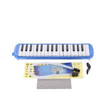 32 Piano Keys Melodica 2 Mouth Piece Musical Instrument Gift for Children Students Musical Fans with Lovely Paster(China (Mainland))