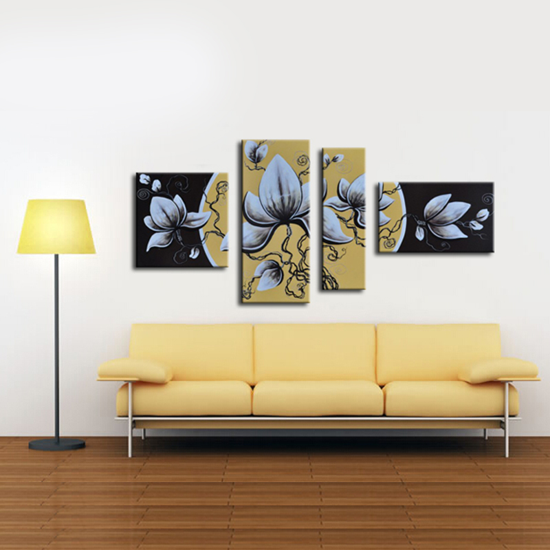 Popular white abstract painting buy cheap white abstract for Exquisite home decor