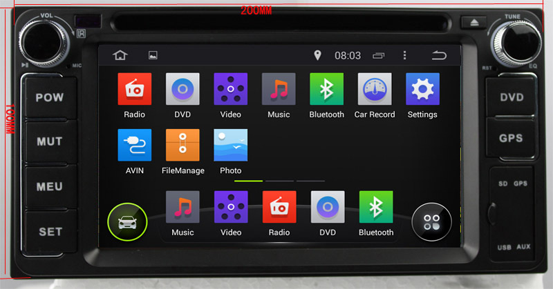 In dash Universal 2 Din 6.2 inch Car DVD with GPS car Radio stereo navigation for Toyota with IPOD ,Free 8G SD Card with map(China (Mainland))