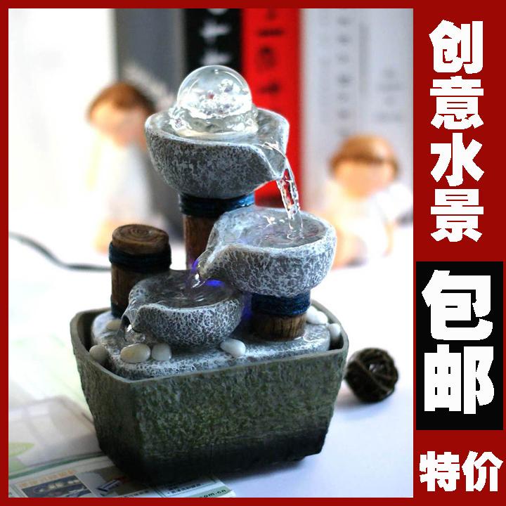 Air mancur kecil fitur air feng shui roda meja kantor - Fuentes de agua decoracion ...