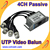 Free shipping 4 Channel Twisted BNC CCTV Video Balun passive  UTP Balun BNC Cat5 CCTV UTP Video Balun up to 3000ft Range