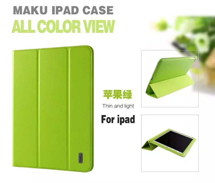 Luxury Ultra Slim Magnetic Smart Flip Stand PU Leather Cover Case For Apple iPad 6 iPad air 2 Display Wake Up/Sleep Function(China (Mainland))