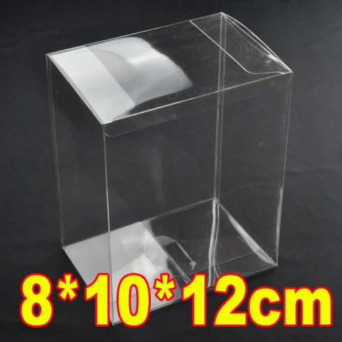 Low MOQ8*10*12cm PVC Transparent Clear Dolls Toys Gift Packaging Boxes Case(China (Mainland))