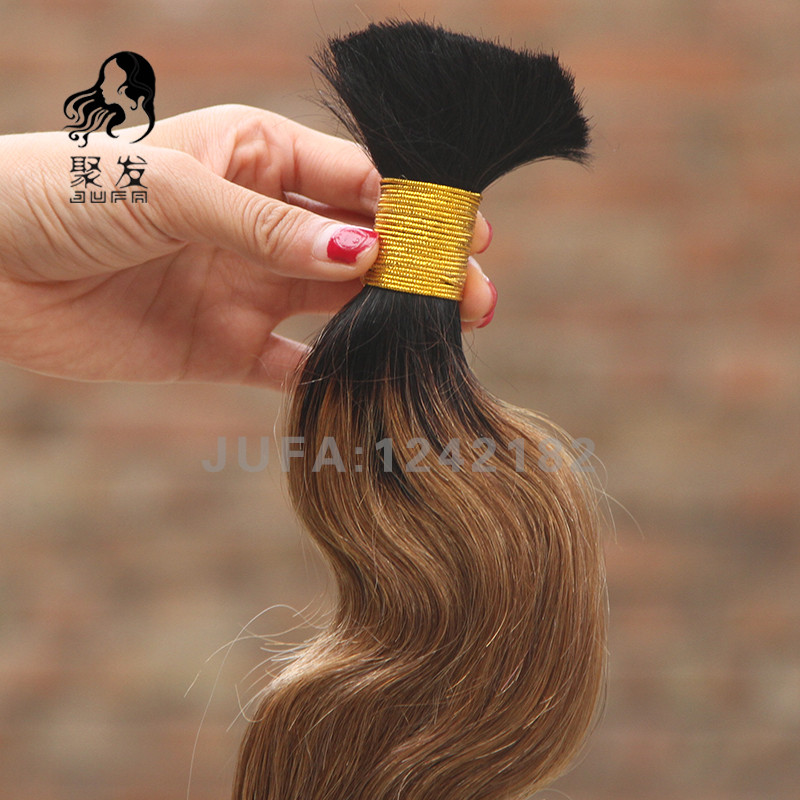 Ombre Bulk Hair Peruvian Body Wave Human Hair 7A Unprocessed Human Braiding Hair Bulk No Weft #1B/27 Human Hair For Braiding