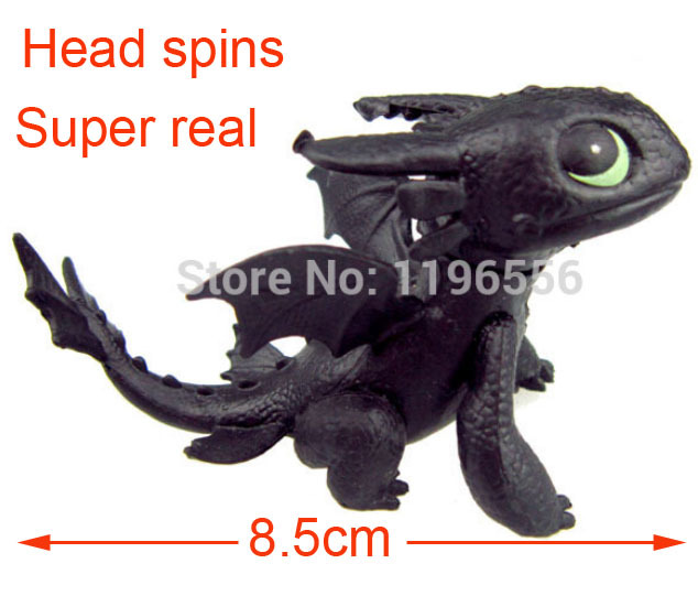 1 piece children's favourite cartoon lovely PVC how to train your dragon toothless night fury toy kids toys(China (Mainland))