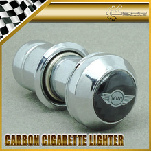 New Car Styling For Mini Cooper Metal & Carbon Fiber Cigar Cigarette Lighter 5.6cm Car Accessories