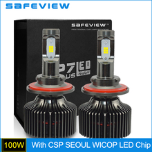 Buy 1 Pair Hot sales Hi/Lo Led Headlight H13 P7 Plus CSP Seoul WICOP LED chip car head Lamp replace Kits 6000K 100W 10000LM for $60.71 in AliExpress store